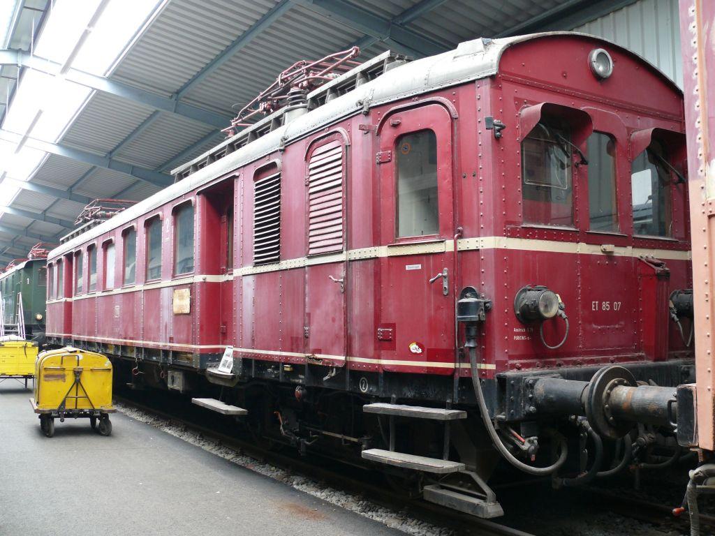 ET 85 -sarjan moottorivaunu museossa. Kuva: Stahlkocher/Wikimedia Commons. CC-BY-SA 3.0